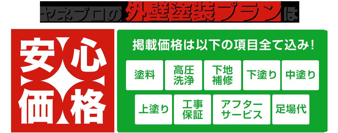 日本ペインターズの外壁塗装プランは安心価格!